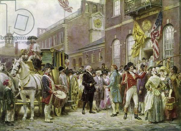 Washington's Inauguration at Philadelphia in 1793 (w/c on paper)