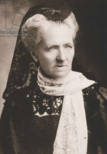 Charlotte Despard, Joint Honorary Secretary of the WSPU (b/w photo)