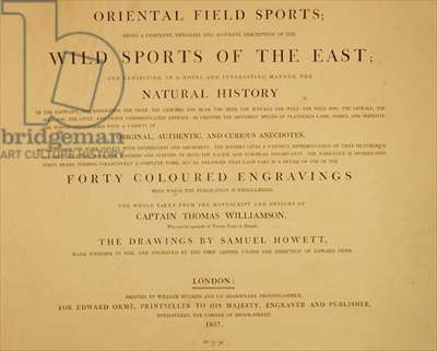 Wild Sports Of The East: frontispiece from