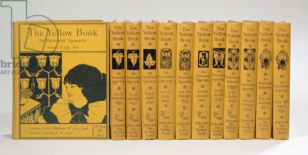 Cover and spine designs for 'The Yellow Book', Volumes II-XIII, published 1894-97 (see also 29069)