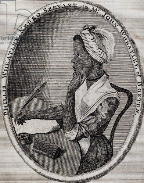 Phillis Wheatley, Negro Servant of Mr John Wheatley of Boston, c.1773 (engraving)