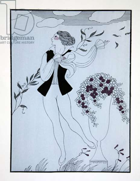 Les Sylphides, from the series 'Designs on the dances of Vaslav Nijinsky' (1889-1950). Georges Barbier (1882-1932), Pochoir Print