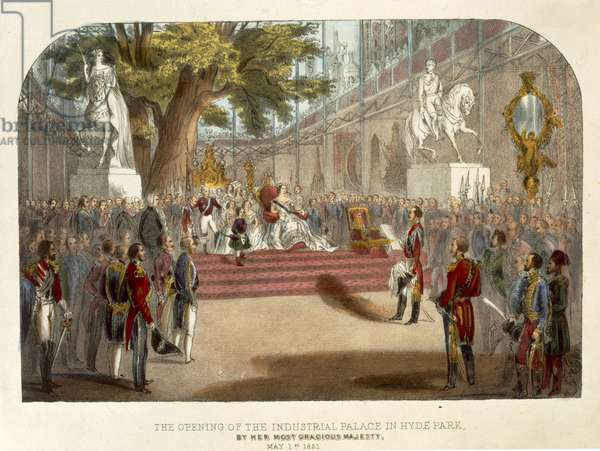 The Opening by Queen Victoria of the Industrial Palace in Hyde Park, May 1st 1851, pub. by W. Ward (print)