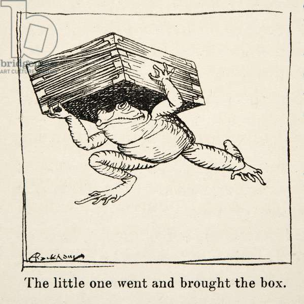 The little one went and brought the box, from Little Brother & Little Sister and Other Tales by the Brothers Grimm, pub.1917 (litho)