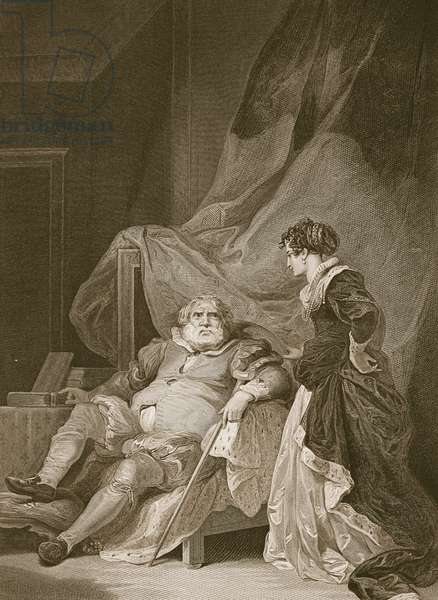 Henry the 8th and Catherine Parr, engraved by George Noble, illustration from David Hume's 'The History of England', pub. by R. Bowyer, London, 1812 (engraving)