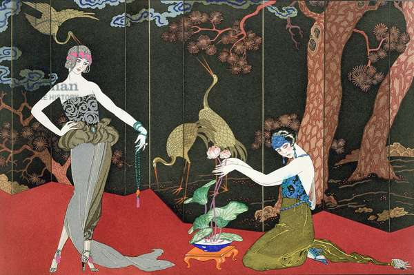 The Fashion for Lacquer, engraved by Henri Reidel, 1920 (litho)