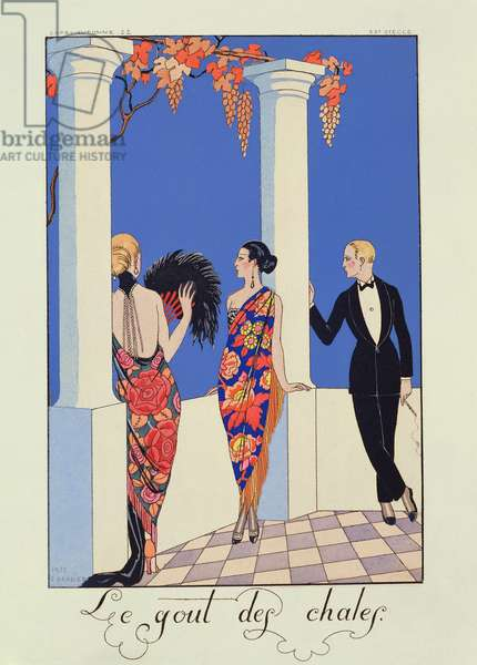 The Taste of Shawls, 1922 (pochoir print)