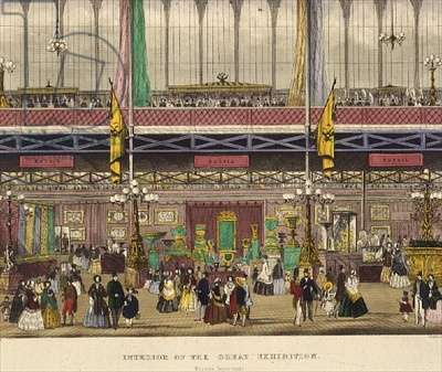 Great Exhibition, 1851: Russian Department, from Interior of the Great Exhibition, by Chevanne, pub. by Read & Co. (print)