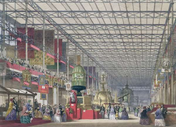 The British Nave of the Great Exhibition, 1851 (coloured litho)