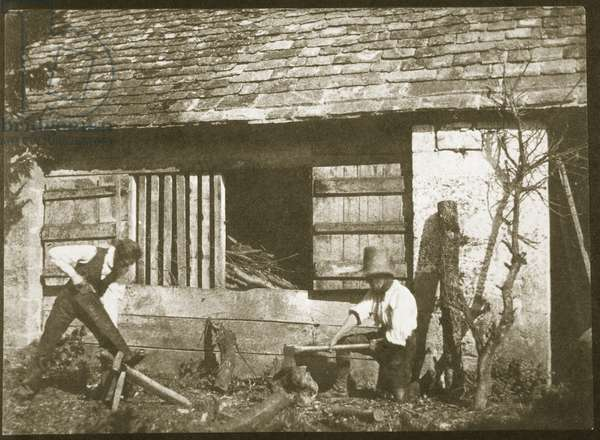 The Woodcutters, 1845 (salt paper print from calotype negative)