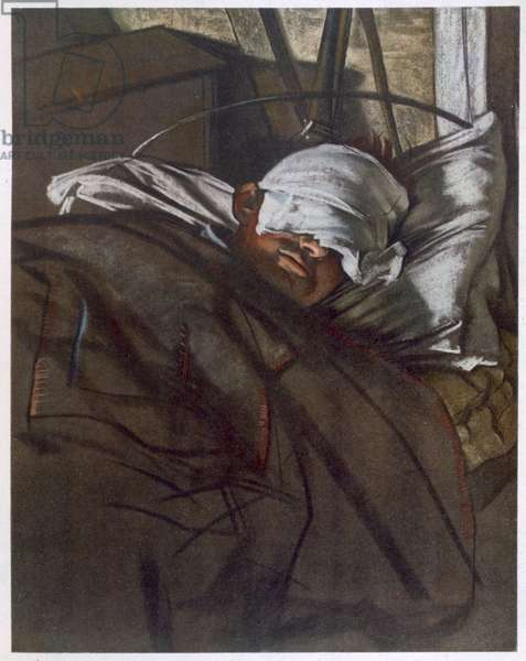 A Gas Patient, from British Artists at the Front, Continuation of The Western Front, Part Four, Eric Kennington, 1918 (colour litho)
