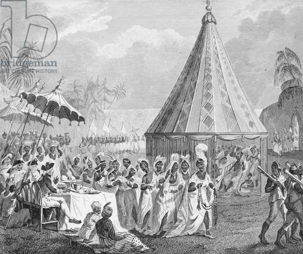 Public Procession of the King's Women, plate IV from 'The History of Dahomey' by Archibald Dalzel, engraved by Francis Chesham (1749-1806) pub. 1793 (engraving)