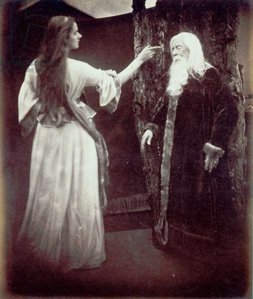 Vivien and Merlin, 1874 (albumen print)