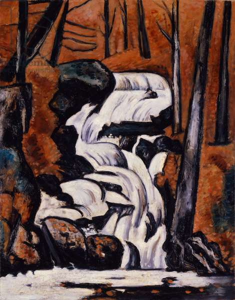 Smelt Brook Falls, 1937 (oil on board)