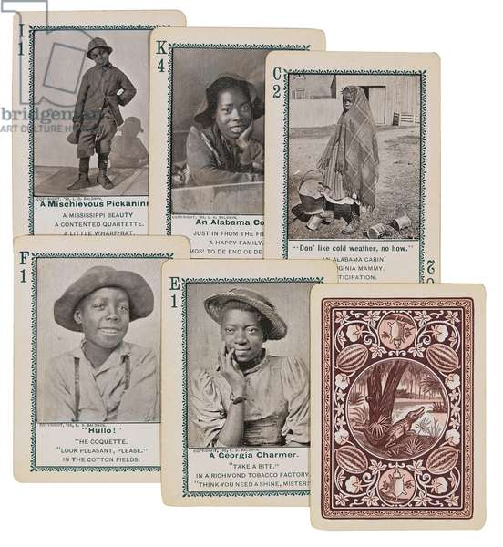 Cards for the 'Game of In Dixie-Land', Cincinnati, 1897