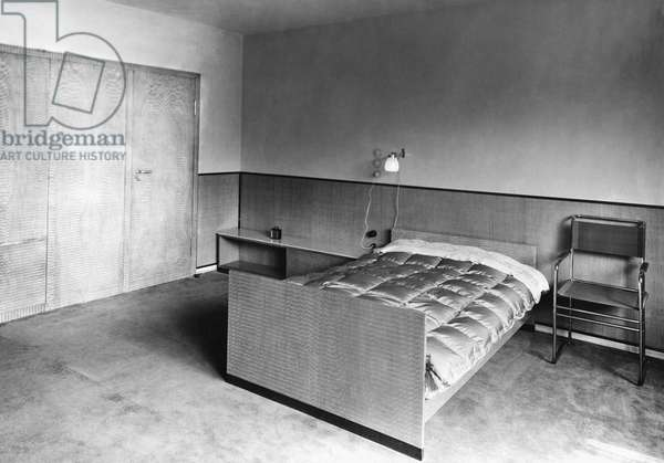 Bedroom, 1935 (b/w photo)