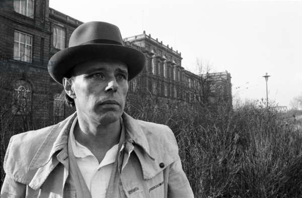 Joseph Beuys, Düsseldorf Art Academy, 1968 (b/w photo)