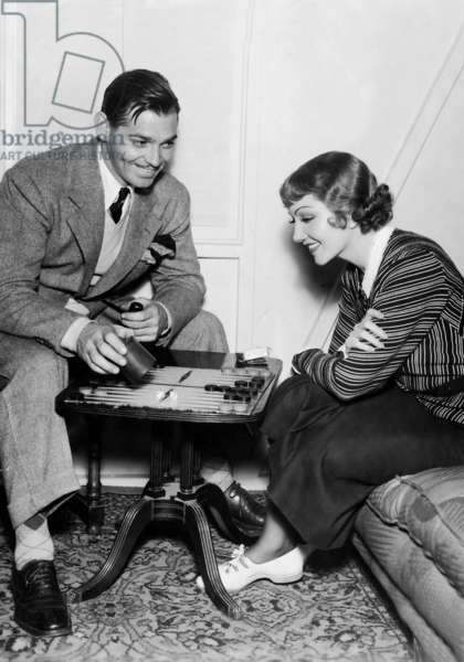 Clark Gable and Claudette Colbert (b/w photo)