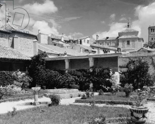 El Greco house in Toledo, 1930 (b/w photo)