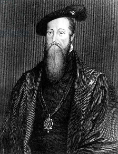 Seymour Thomas (1508-1549), Baron of Sudeley Younger brother of Jane Seymour Fourth husband of Katherine Parr one time suitor of Princess Elizabeth. Held the position of Lord High Admiral. Executed for treason in the reign of EdwardVI, engraving