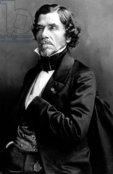 Eugene Delacroix (1798-1863) French painter, picture by Nadar, 1858