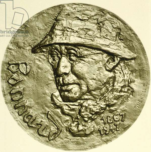 Coin with the effigy of French painter Pierre Bonnard (1867-1947)