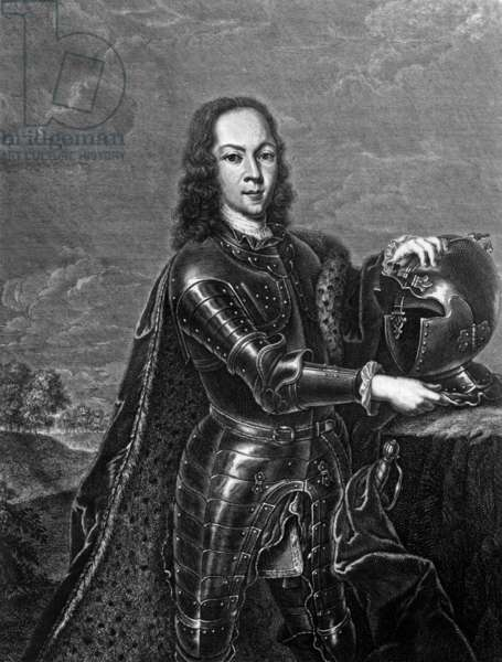 Alexis Petrovitch Romanov (1690-1718) son of Tsar Peter I, engraving by CA Wortman after Ludden