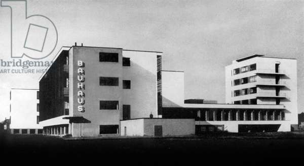 Bauhaus school in Dessau (germany) built by Walter Gropius, 1926