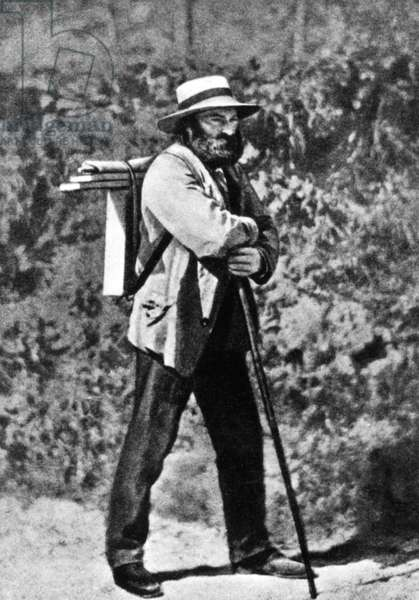 Paul Cezanne in Auvers-sur-Oise, c.1873 (b/w photo)