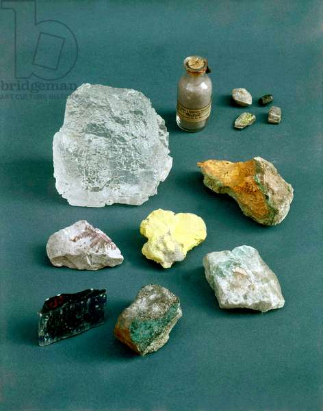 Stones used by Marie Curie for her researches, Curie Foundation in Paris