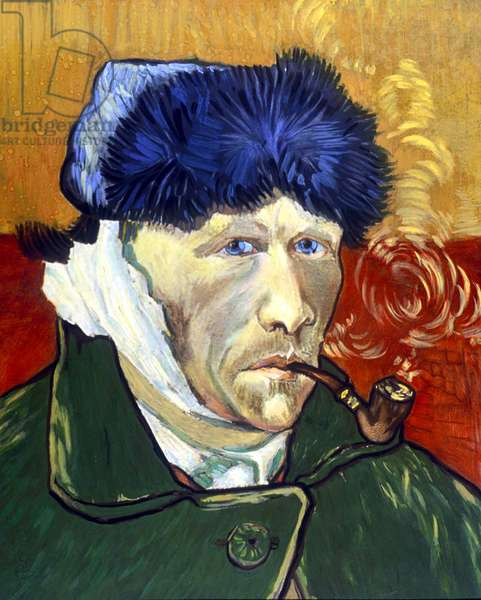 Self Portrait with Bandaged Ear and Pipe, 1889 (oil on canvas)