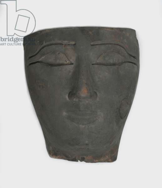 Face from an anthropoid coffin (wood)