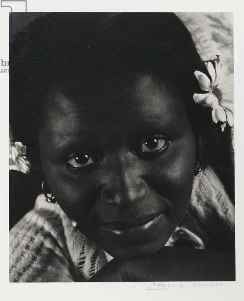 Untitled (Woman with Daisies) (gelatin silver print)