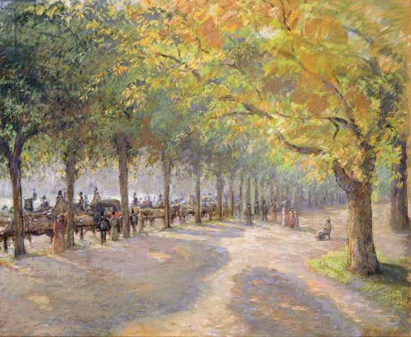 Hyde Park, London, 1890 (distemper on paper laid down on canvas)