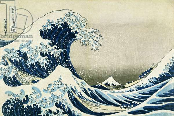 The Great Wave off Kanagawa, from 'Thirty-six views of Mount Fuji', c.1831 (colour woodblock print)