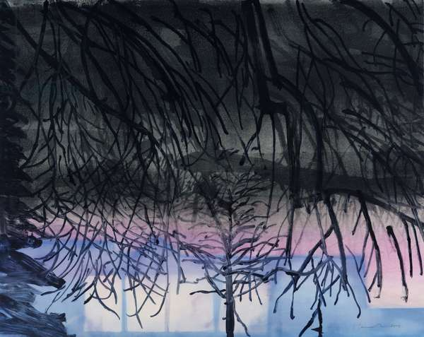 Night Studio 2, 2008 (monotype)