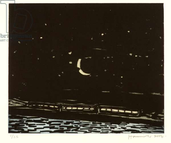 Night Train 1/25, 2004 (etching with aquatint)