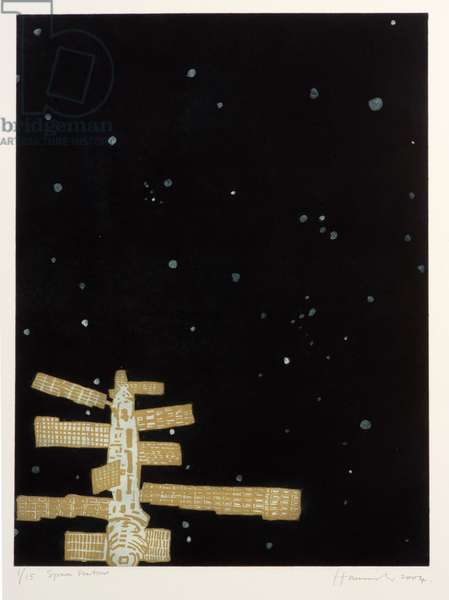 Space Station, 2004 (etching, aquatint & Chine-collé)