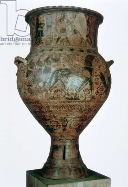 Art greek. Archaic. Amphora of Melos. 7th BC century. National Archaeological Museum of Athens. Greece.