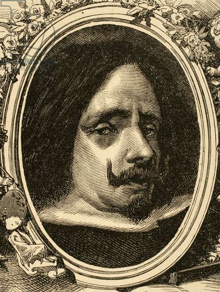 Portrait of Diego Velazquez (engraving)