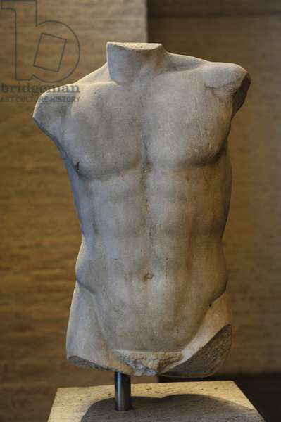 Torso of a statue of Apollo. Roman sculpture after original of about 460 BC. Glyptothek. Munich.