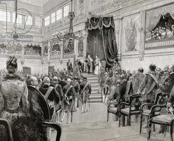 Charles I (1863-1908). King of Portugal (1889-1908). Proclamation of Charles I as king of Portugal on December 28, 1889.