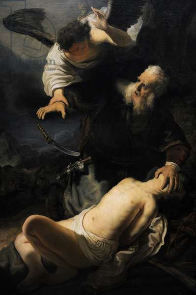 Rembrandt  (1606-1669) Dutch painter and etcher. The Sacrifice of Isaac, 1636.