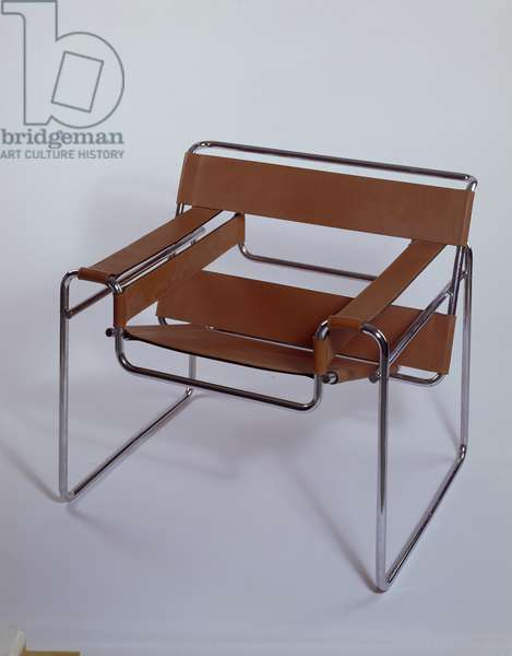 Wassily Chair, 1925 (replica 1969) (chrome & leather)