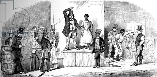 Slave auctioning in Virginia, 1856