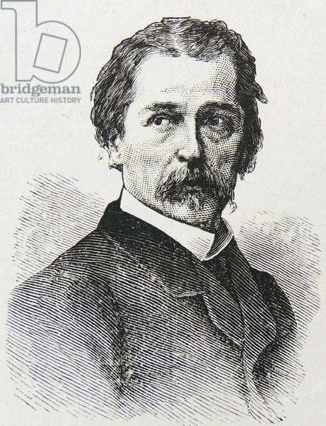 Engraving of Jean Francois Millet, 1875 (engraving)