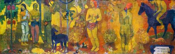 Painting titled 'Faa Iheihe' by Paul Gauguin