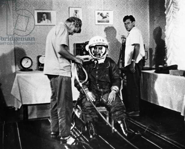 Vladimir Komarov Undergoing Training as Back-Up for Cosmonaut Pavel Popovich In1962.