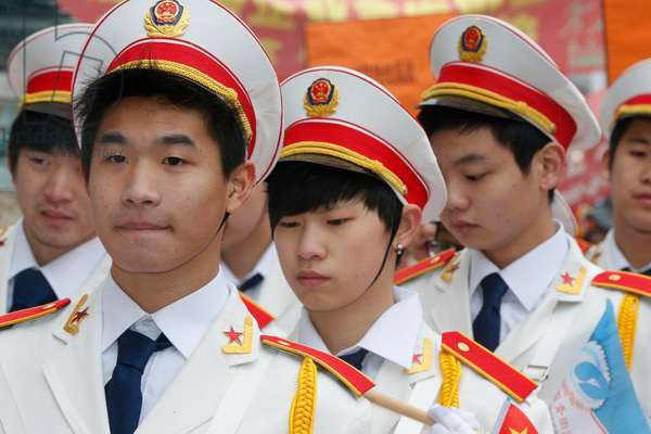 Chinese New Year, Men in uniforms (photo)