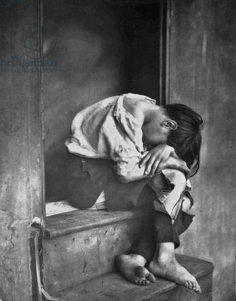 "Oscar Gustave Rejlander (1813 – 1875).  Poor Jo"" depicts a  boy from the local Ragged School for the poor,"